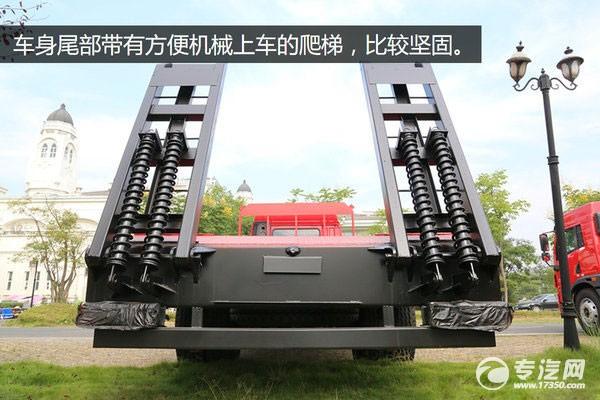 车身尾部带有方便机械上车的爬梯,比较坚固