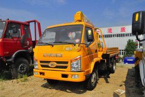 唐骏骏骐旗舰版3.2吨随车吊(黄色)图片