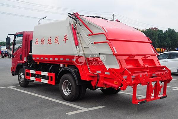 大运奥普力5-6方后装压缩式垃圾车方位图4