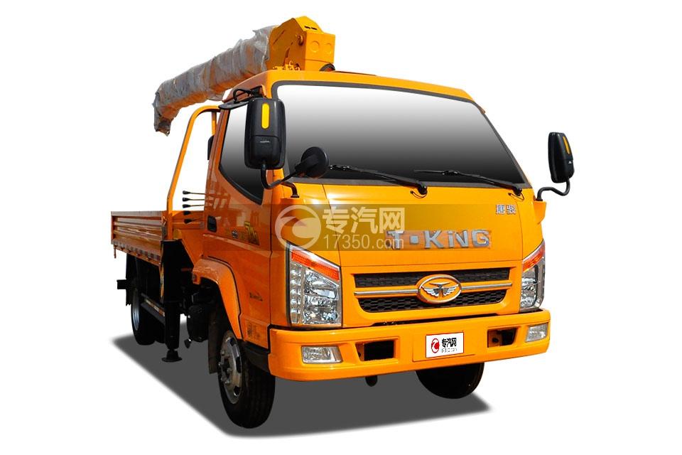 唐骏骏骐旗舰版国五3.2吨随车吊(黄色)