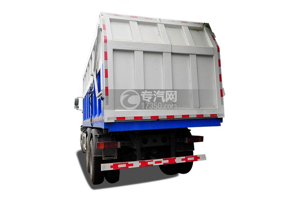 重汽斯太尔M5G后双桥压缩对接式垃圾车后面图