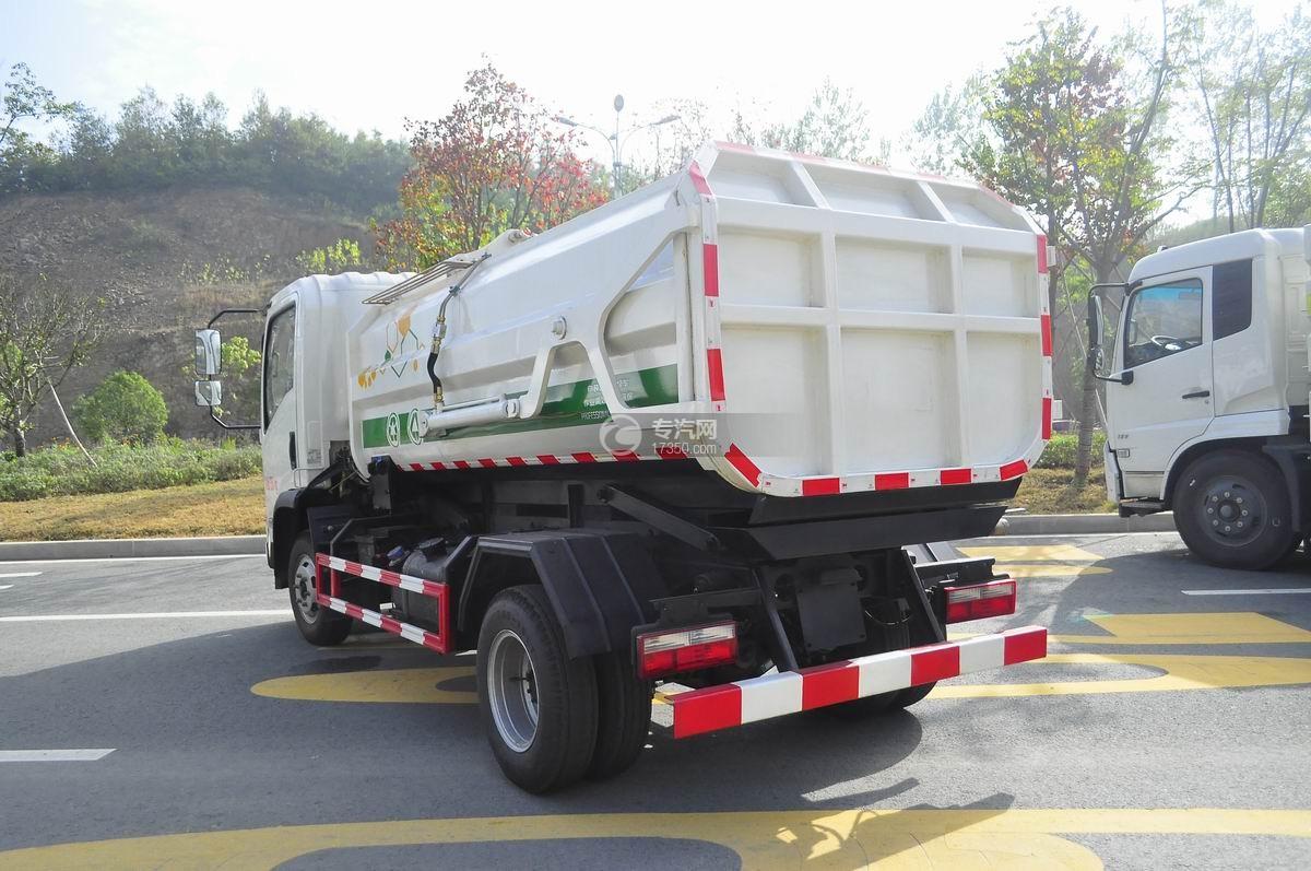 东风嘉运国五自装卸式垃圾车左后45°图