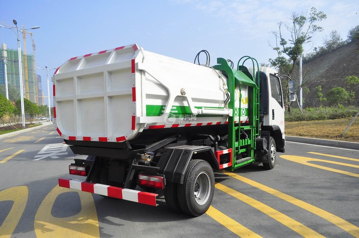 东风嘉运国五自装卸式垃圾车右后45°图