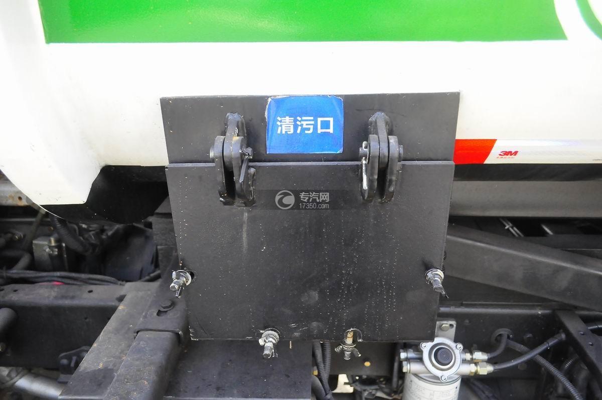 东风嘉运国五自装卸式垃圾车清污口