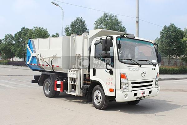 大运奥普力5-6方自装卸垃圾车右前图