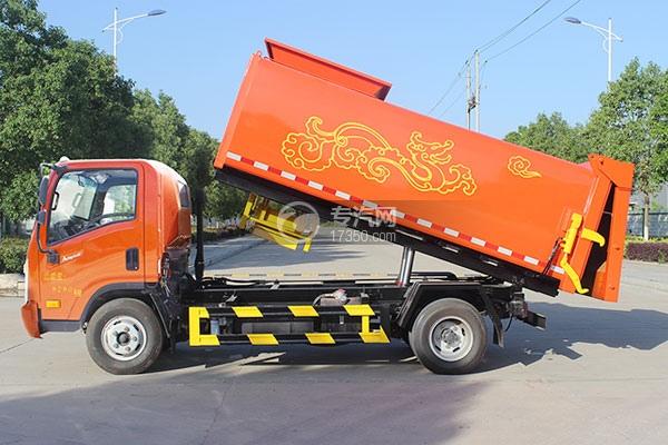 大运奥普力侧装压缩垃圾车左侧图