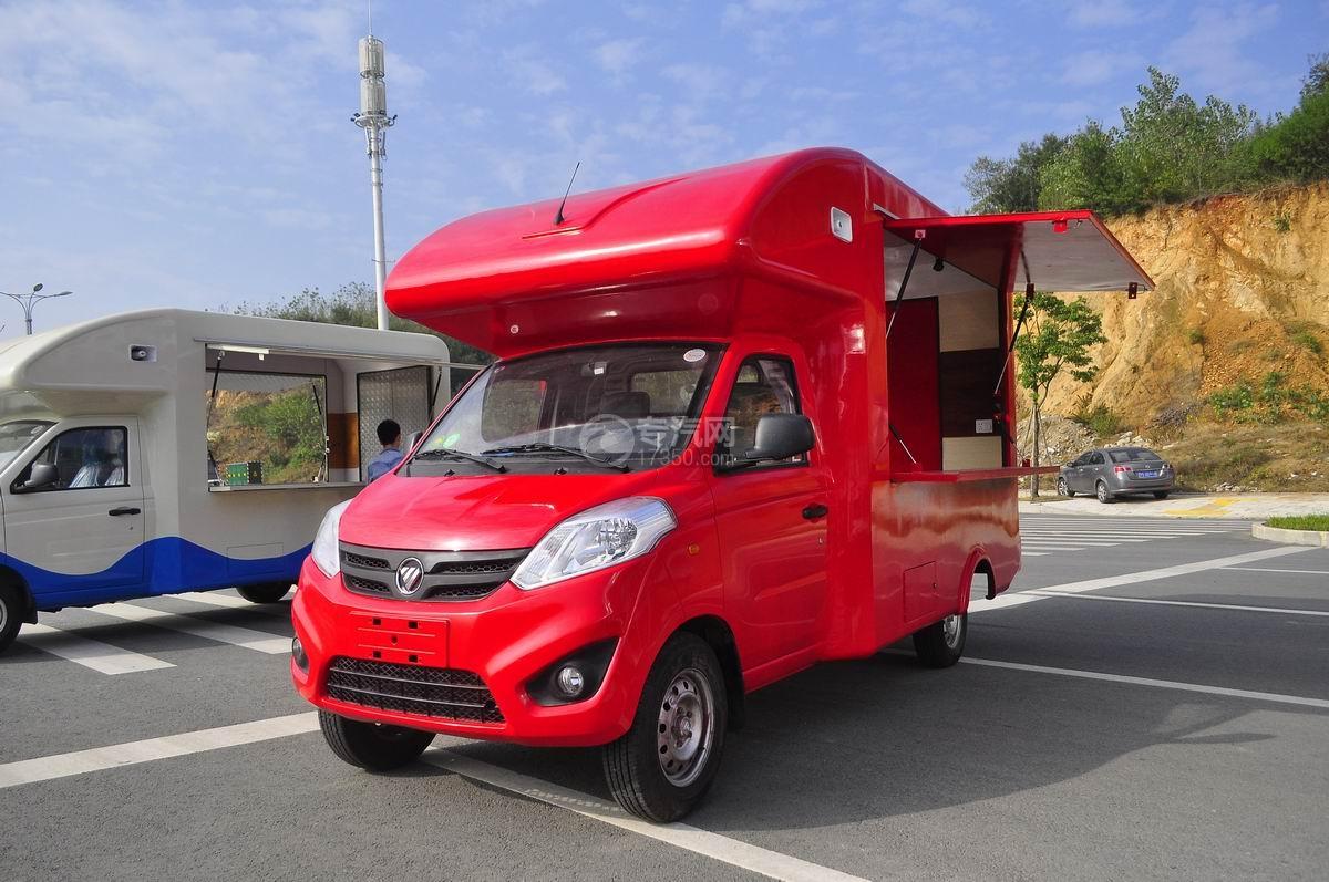 福田伽途T3流动售货车(大红)左前面