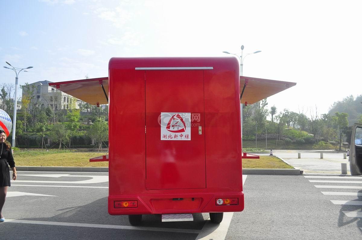 福田伽途T3流动售货车(大红)后面