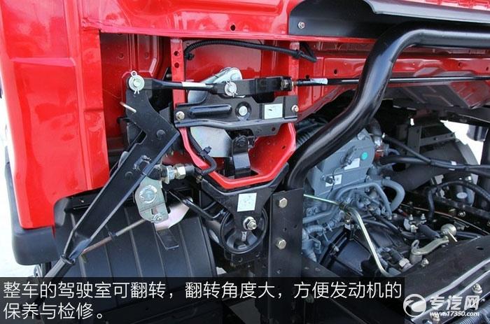 解放J6F重载版150马力4x2排半轻卡可翻转驾驶室