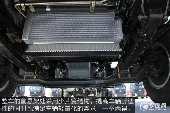 解放J6F重载版150马力4x2排半轻卡前悬架