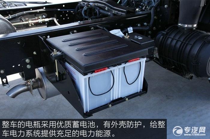 解放J6F重载版150马力4x2排半轻卡蓄电池