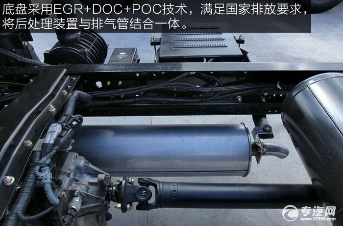 解放J6F重载版150马力4x2排半轻卡发动机排气管