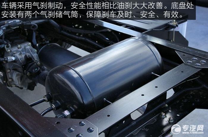 解放J6F重载版150马力4x2排半轻卡气刹储气筒
