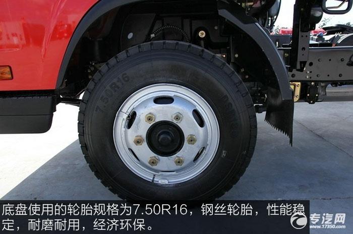 解放J6F重载版150马力4x2排半轻卡钢丝轮胎