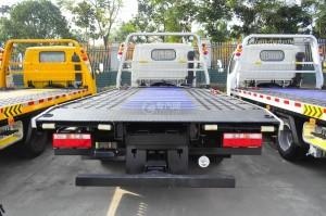東風凱普特藍牌一拖二清障車(液壓伸縮板)圖片