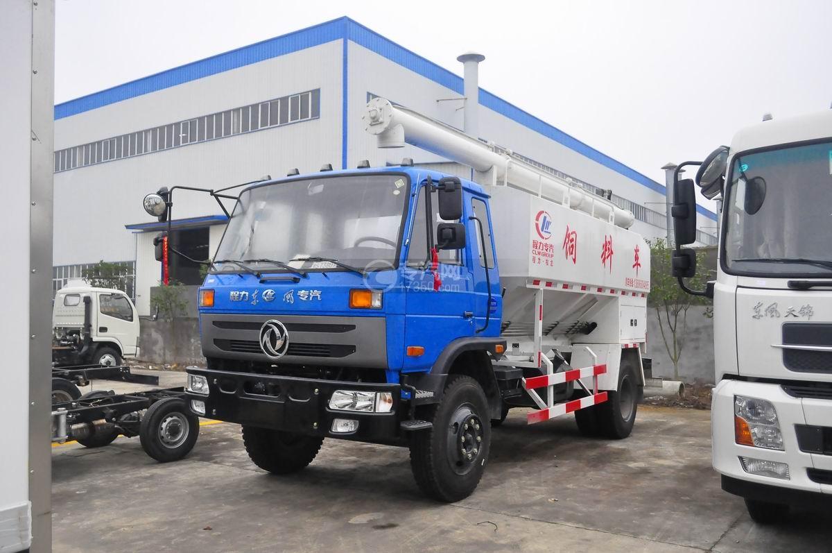 东风145散装饲料运输车图片