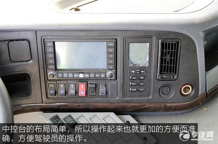 重汽howo重卡340马力自卸车中控台
