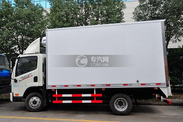 一汽解放J6F国五冷藏车左侧图