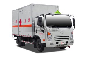大运奥普力4.1米危险品厢式运输车