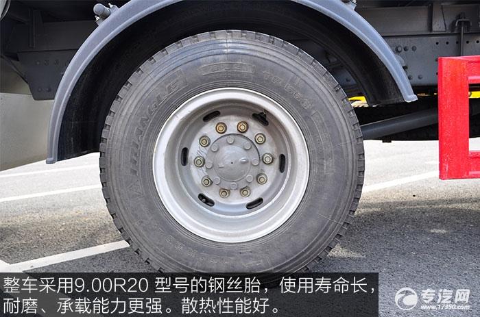 整车采用9.00R20 型号的钢丝胎