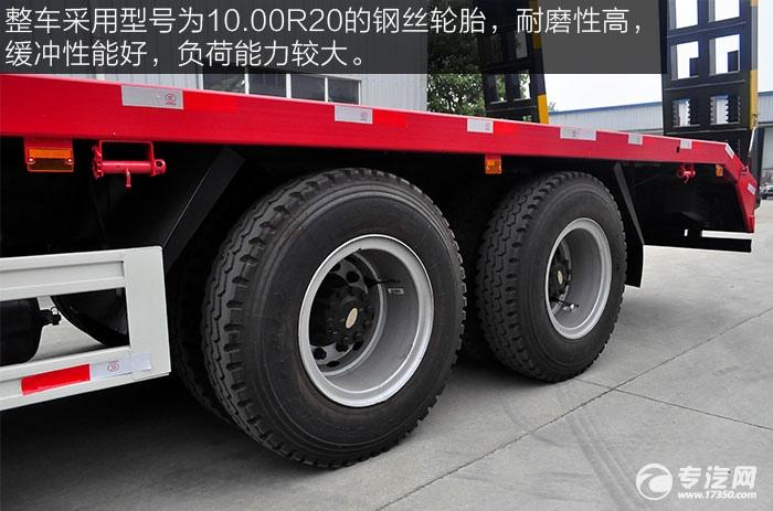 整车采用型号为10.00R20的钢丝轮胎