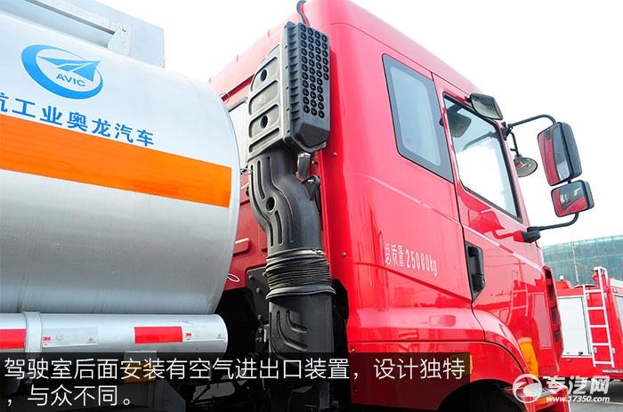 华菱汉马小三轴油罐车空气进出口装置
