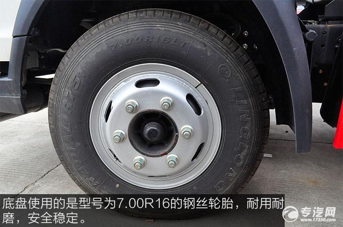 重汽豪沃5.2方加油车钢丝轮胎