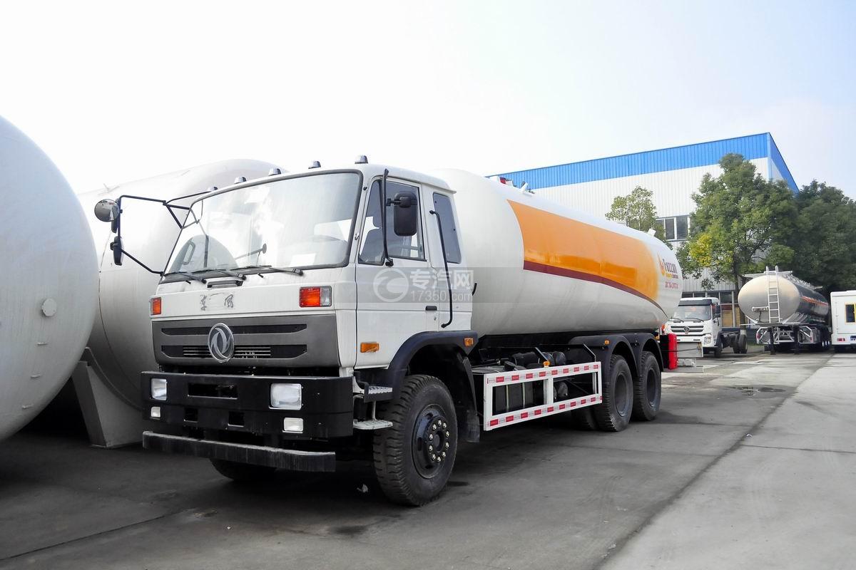 东风153后双桥13.9方腐蚀性物品罐式运输车(出口)