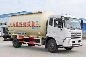 东风天锦单桥国五17.38方低密度粉粒物料运输车