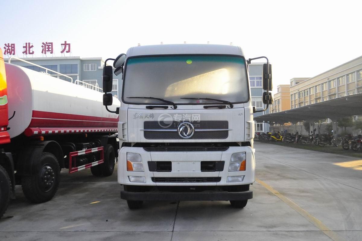 东风天锦小三轴国五21.3方运油车正面图
