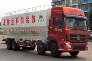 东风天龙前四后八32.1方国五散装饲料运输车