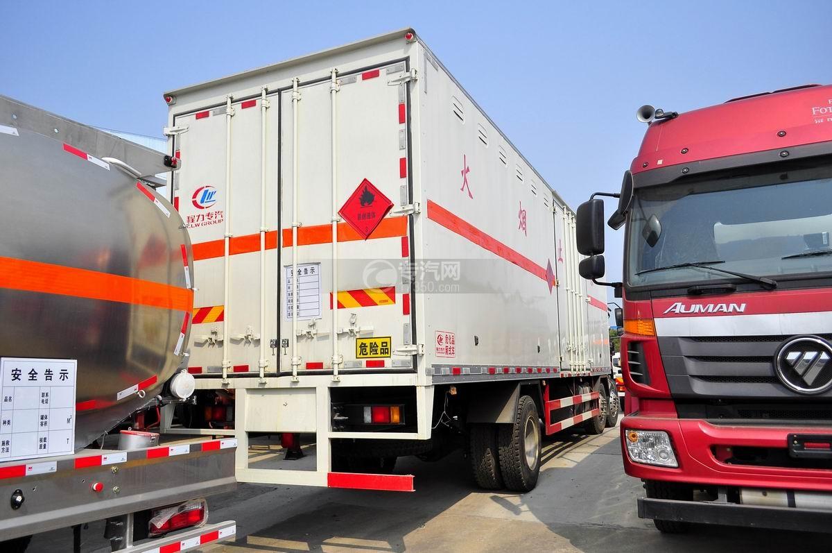 东风柳汽乘龙M3小三轴国五易燃气体厢式运输车右后图