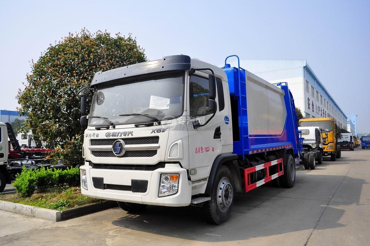 陕汽轩德6系国五压缩式垃圾车图片