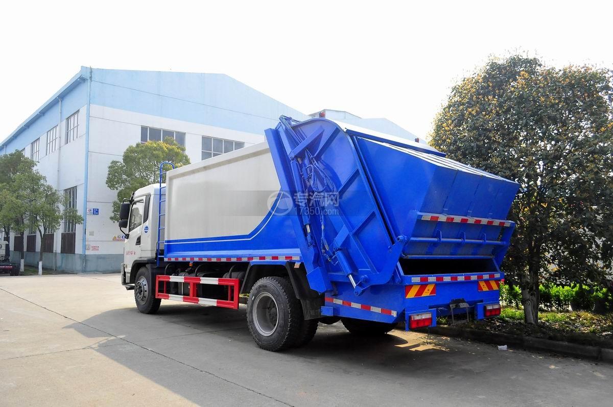 陕汽轩德6系国五压缩式垃圾车左后图