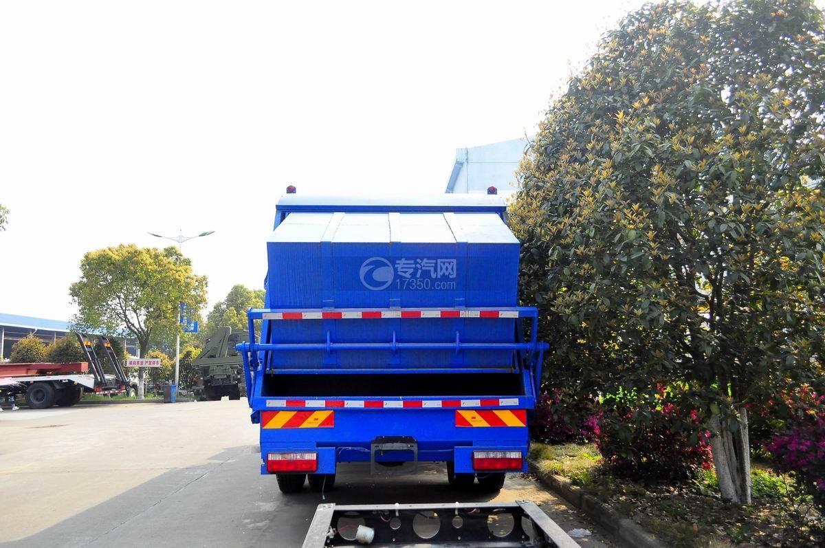 陕汽轩德6系国五压缩式垃圾车后面图