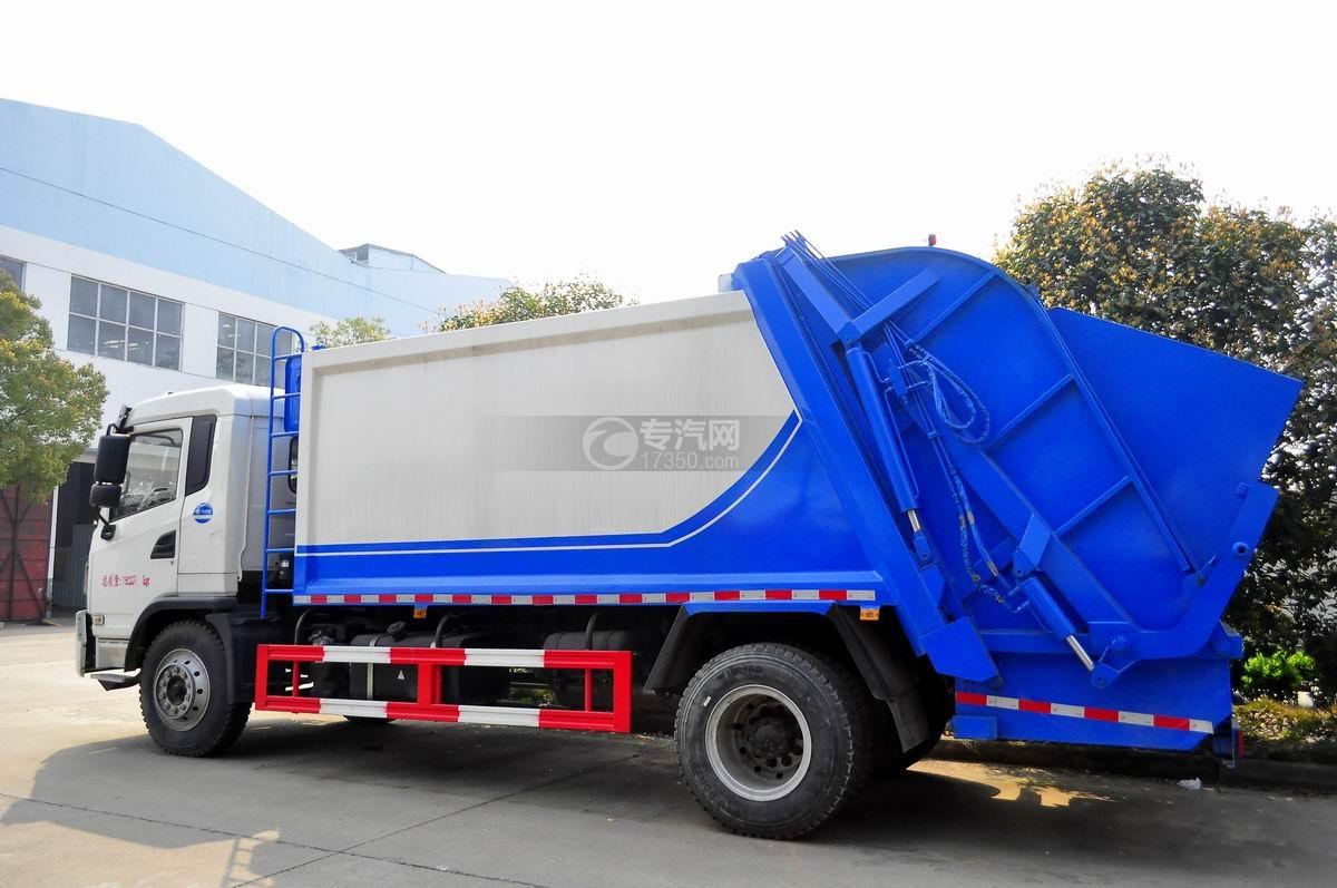 陕汽轩德6系国五压缩式垃圾车左侧图