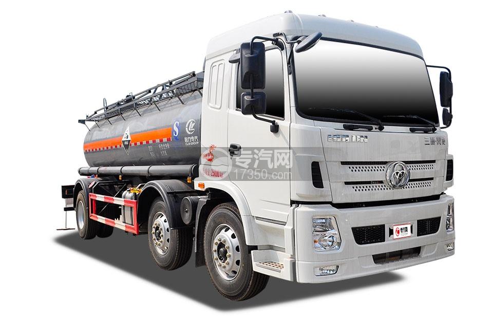 三环昊龙小三轴13.8方国五腐蚀性物品罐式运输车