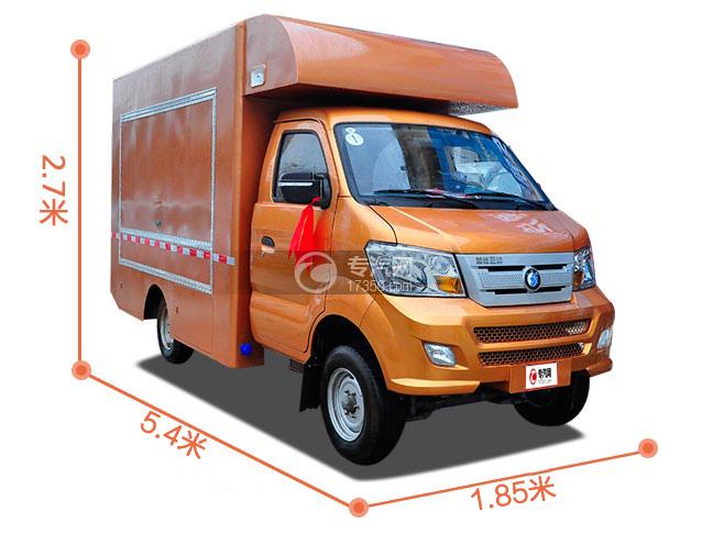 重汽王牌W1国五汽油流动售货车尺寸大图