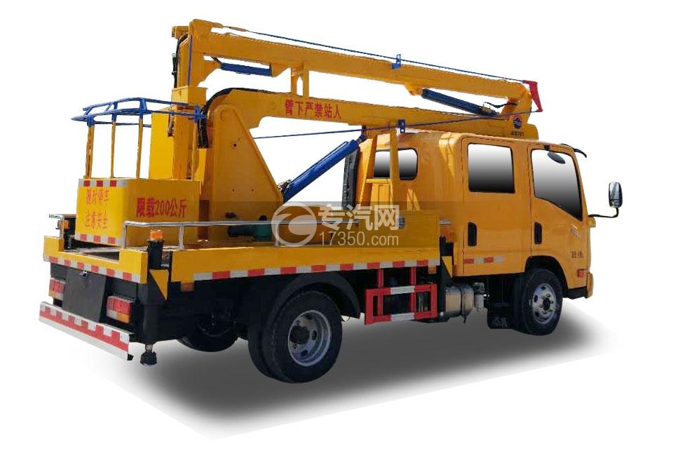 大运奥普力双排座国五12米高空作业车3