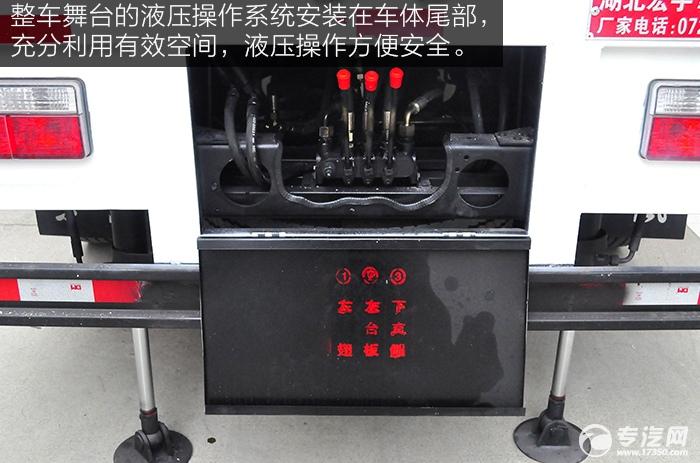 绽放自我 大运奥普力单排国五流动舞台车液压操作系统