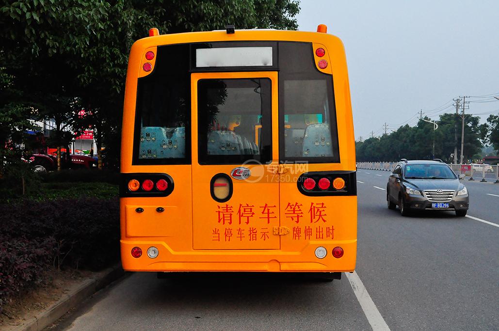 楚风36座小学生专用校车背面