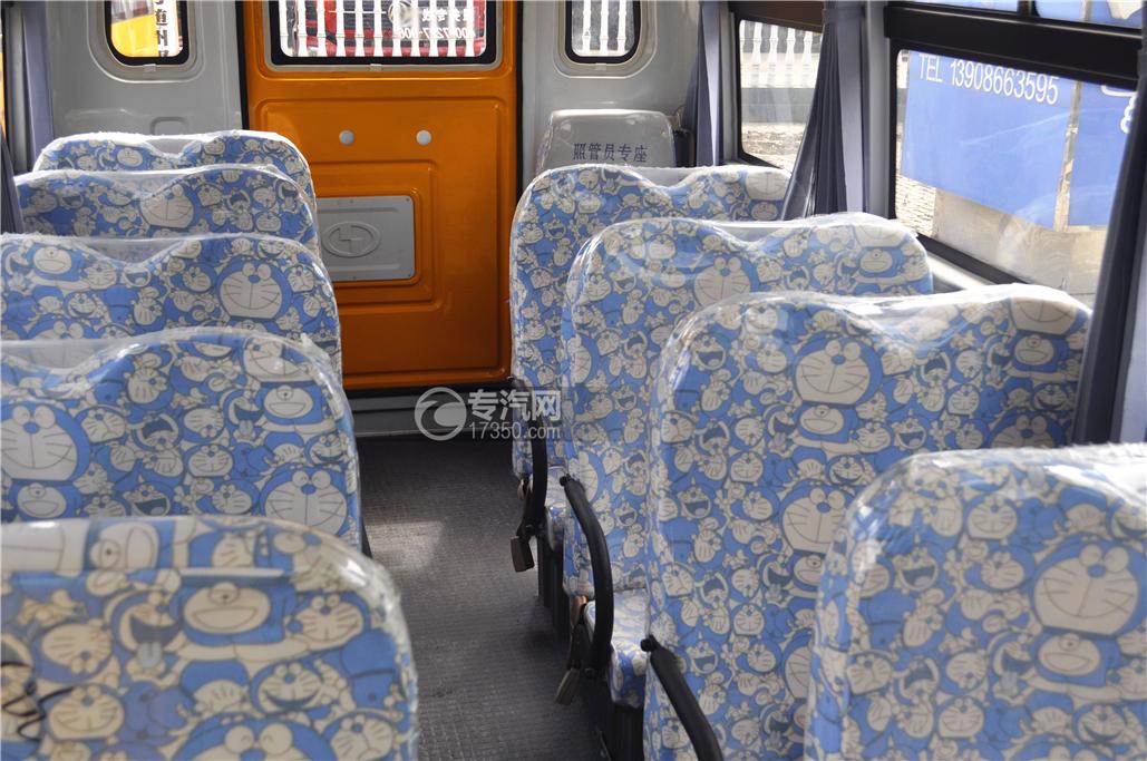 少林18座幼儿园校车内部座椅1