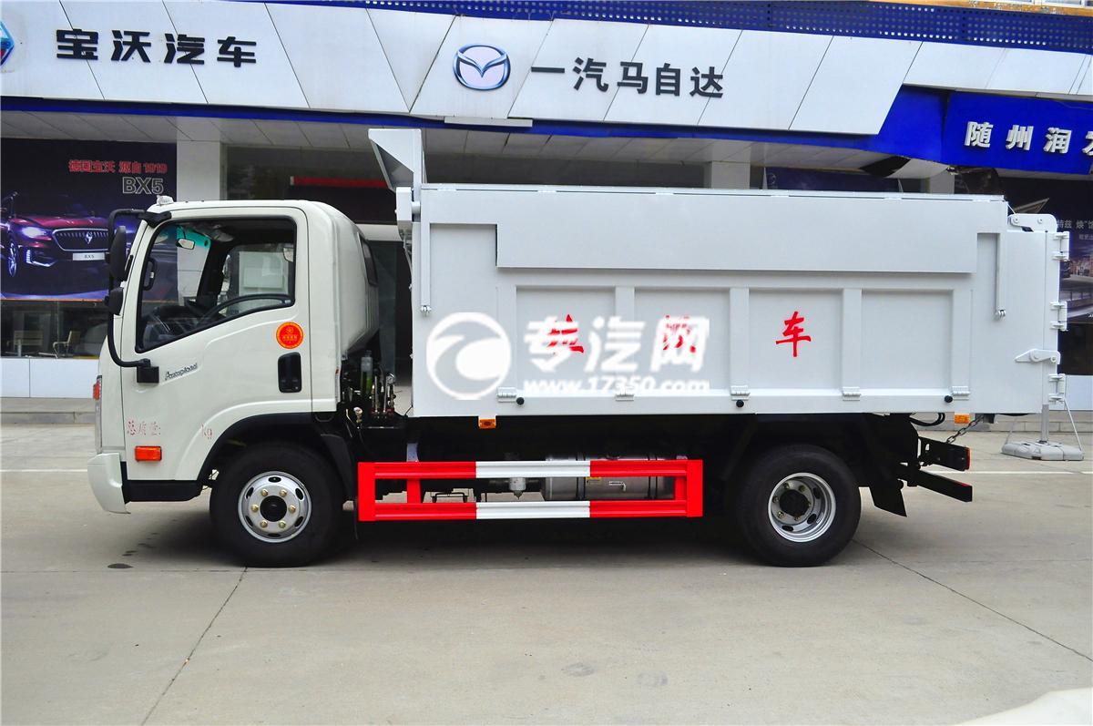 大运奥普力自卸式垃圾车侧面1 (1)
