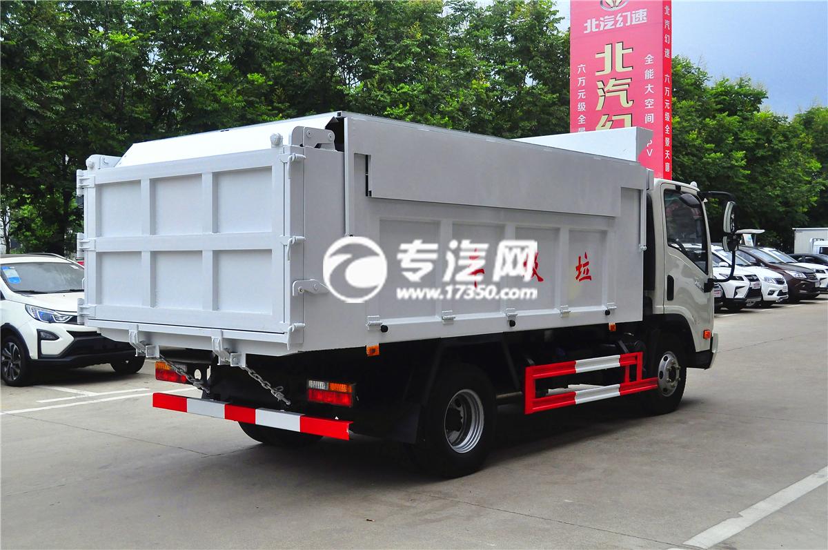 大运奥普力自卸式垃圾车后面 (2)