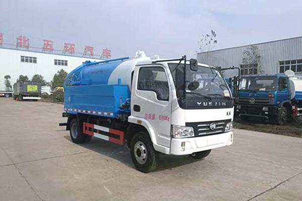 跃进帅虎H100-28国五3.98方清洗吸污车