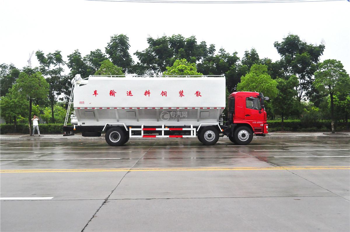 陕汽轩德X6散装饲料运输车左侧面