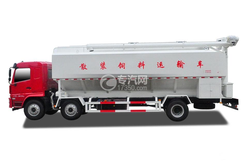 3陕汽德龙小三轴散装饲料运输车