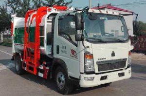 重汽豪沃挂桶式垃圾车