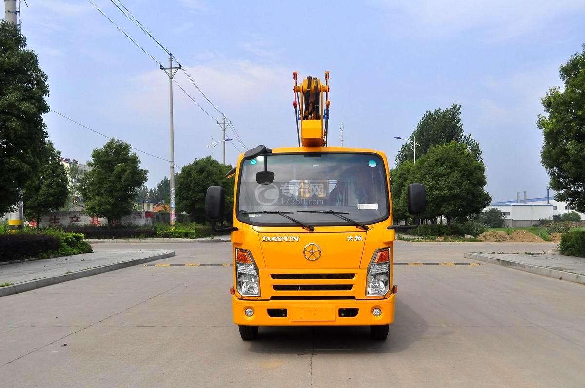 大运奥普力双排座国五12-14米高空作业车正面图