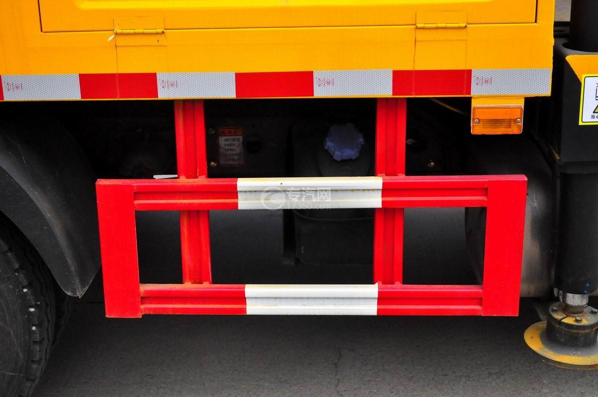 大运奥普力双排座国五12-14米高空作业车防护栏